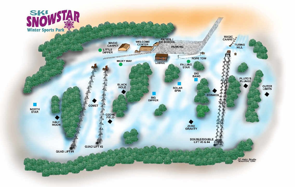 Snowstar trail map