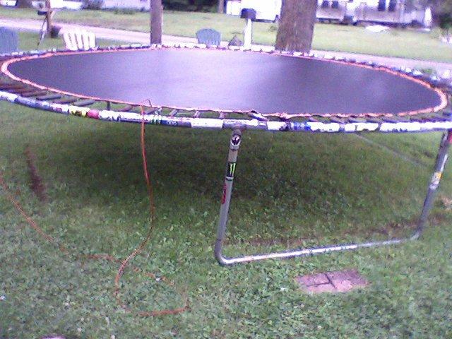 Sticker Job on the trampoline
