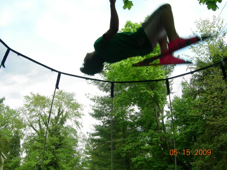 Backflip on tramp