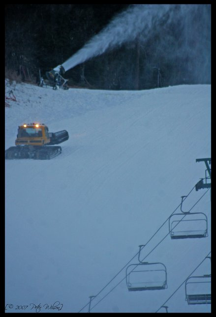 Snowcat and snowmaking