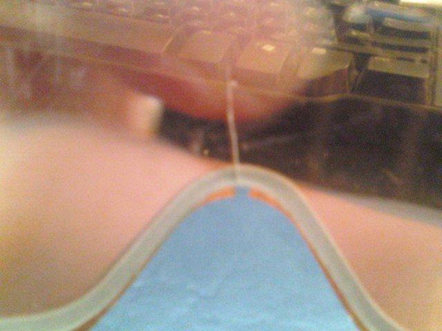 Crack in lense