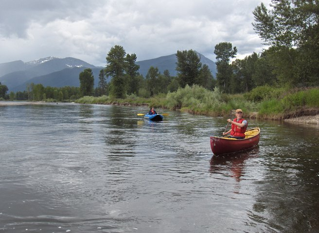 Testing out the solo canoe