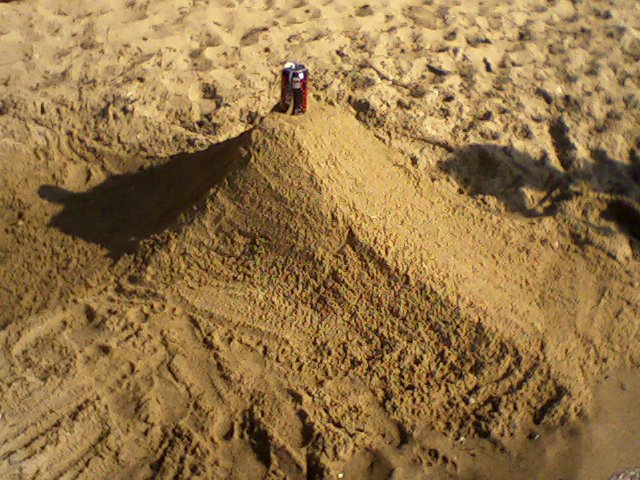 Can Stall in the sand