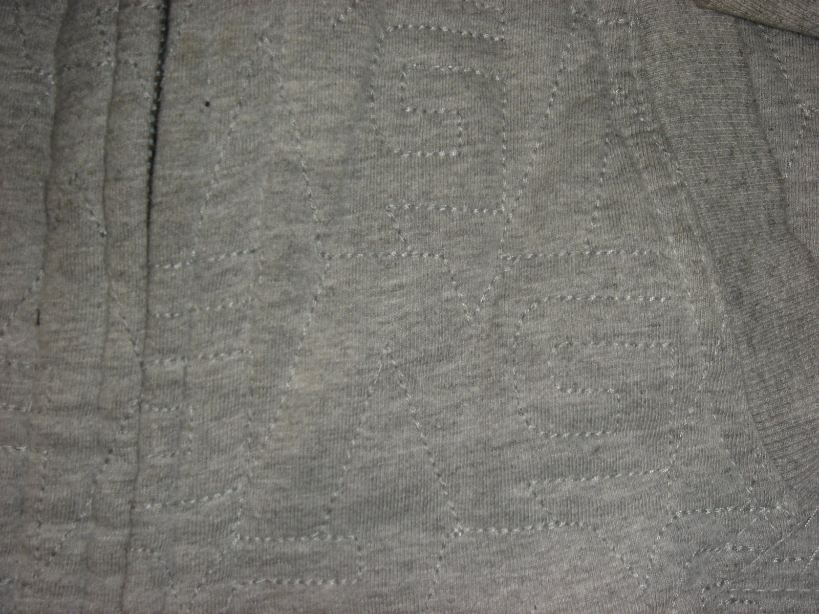 Stiching/detail of analog hoodie