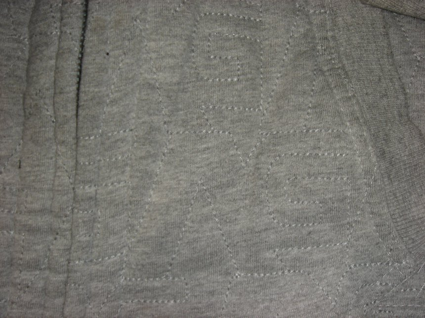 Stiching/detail of analog hoodie