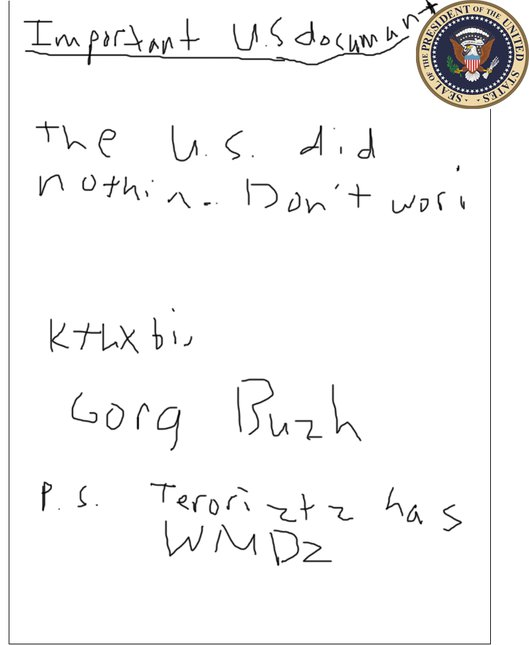 Presidential note.