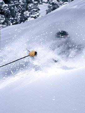 Me skiing powder