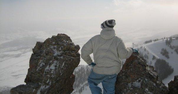 Overlooking Jackson from Headwall