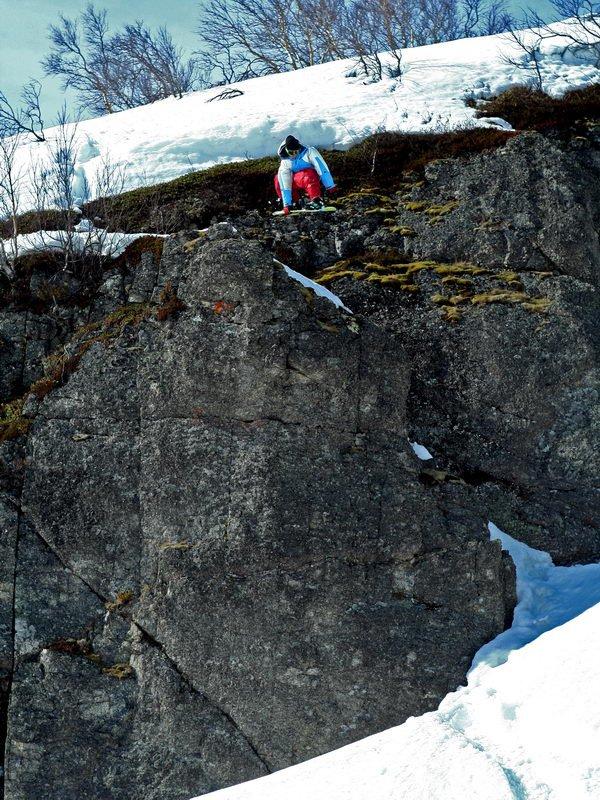 Dron snowboard