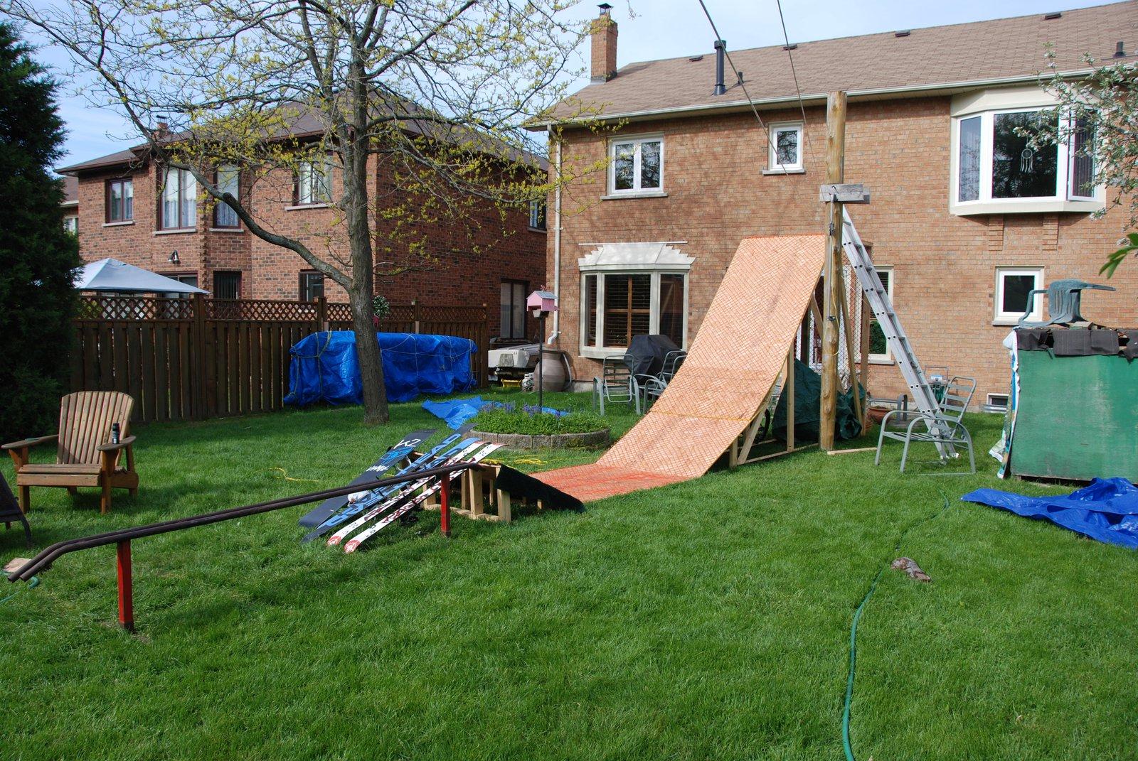 My backyard set up