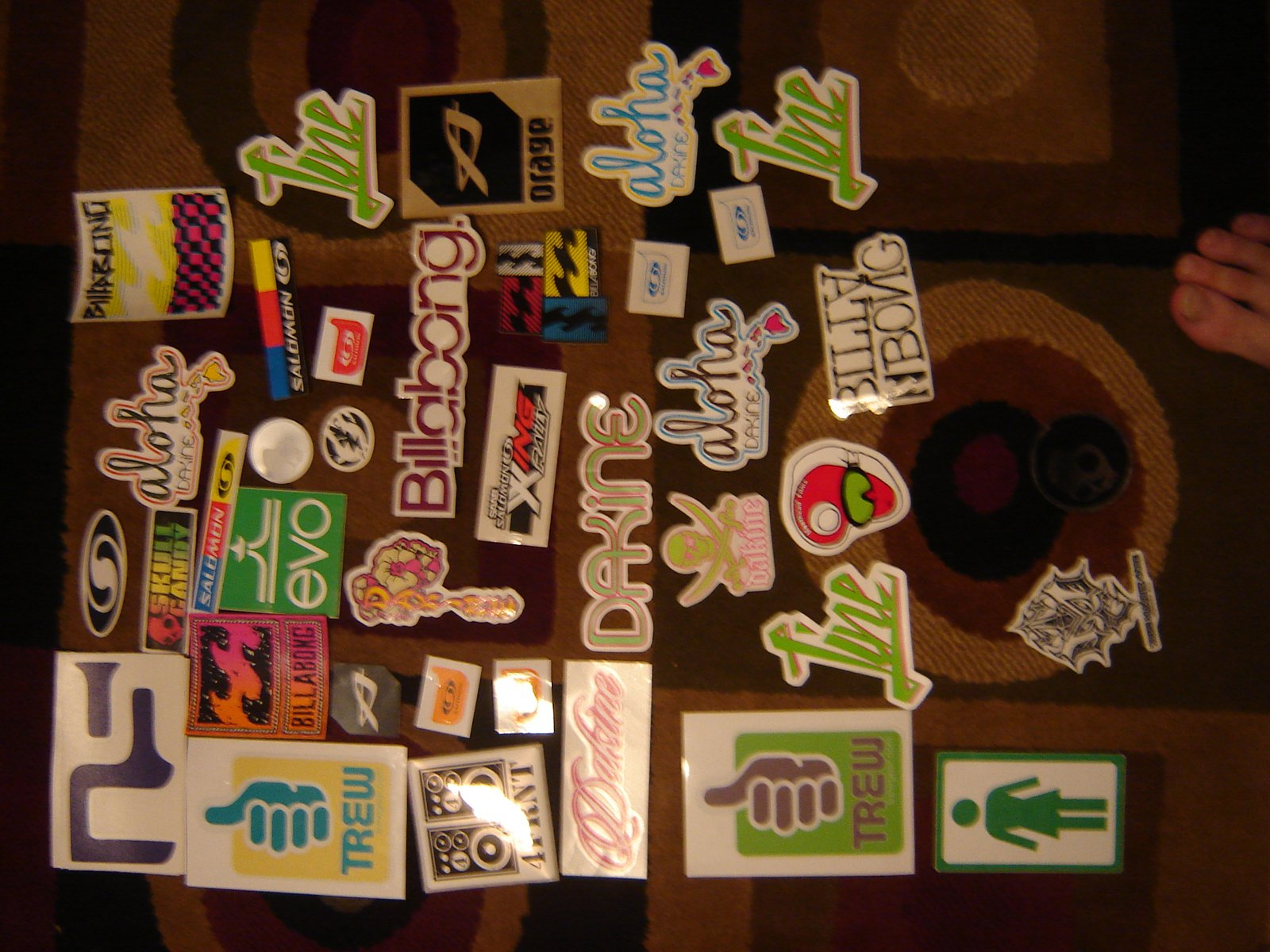 Stickers left