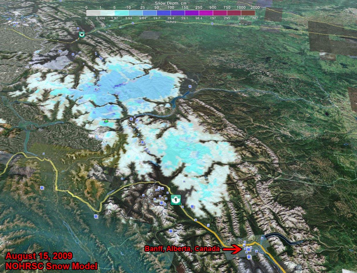 8-15-09 Banff Snowdepth