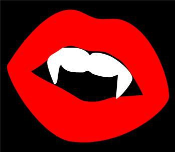 Vampire lips diecut