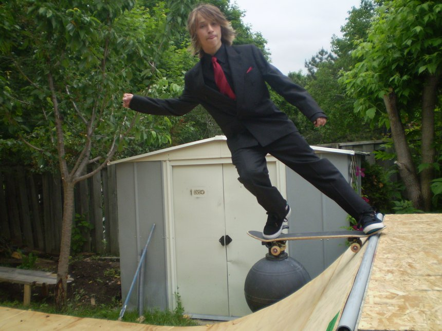 Skating my halfpipe in suit