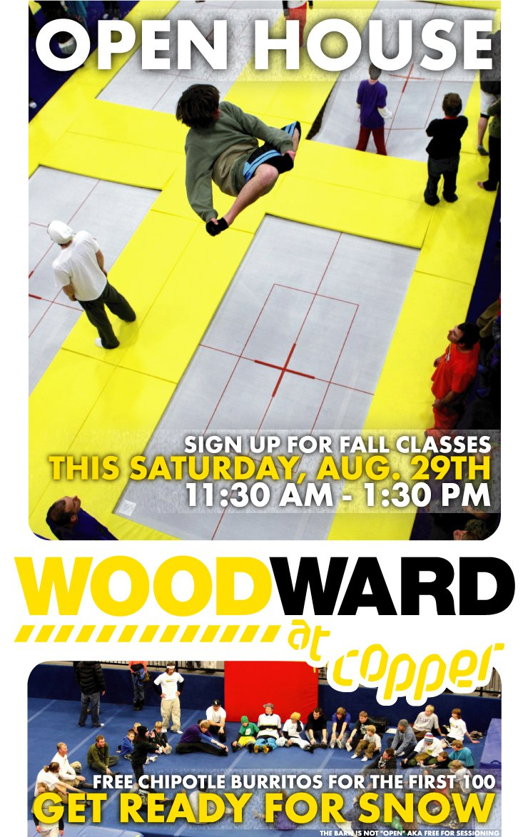 Woodward at Copper: Open House