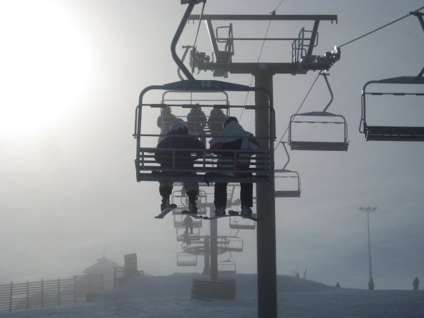 Snow park chairlift