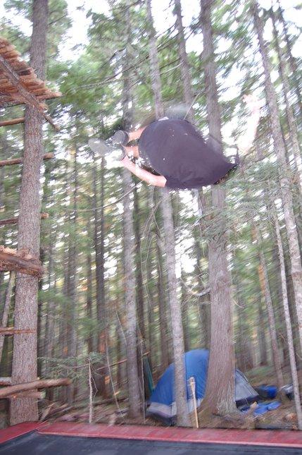 Campsite tramp sesh