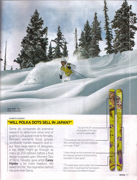 Moment Skis in skiing magazine