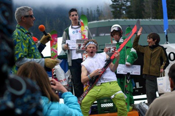 Pre-podium ski-tar sesh