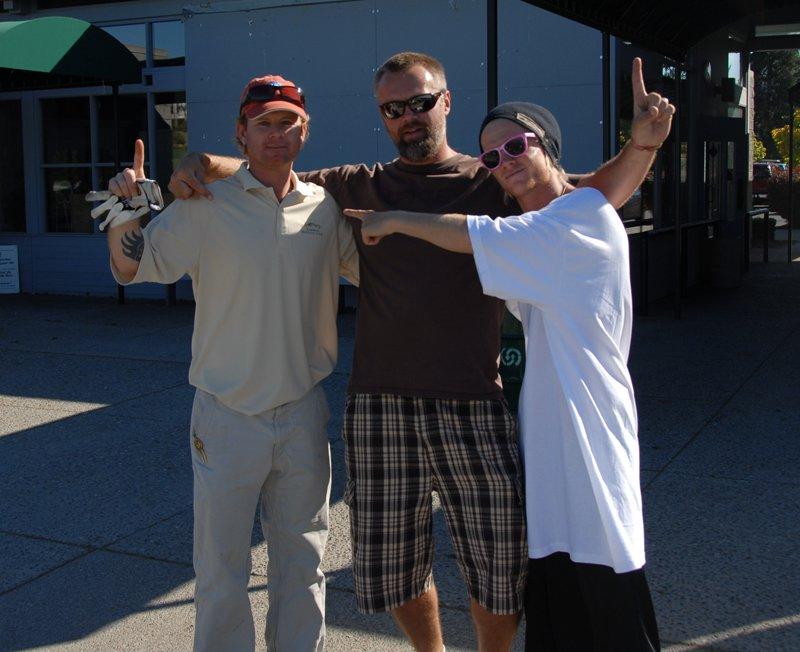 Nobis, Me, Tanner golfing