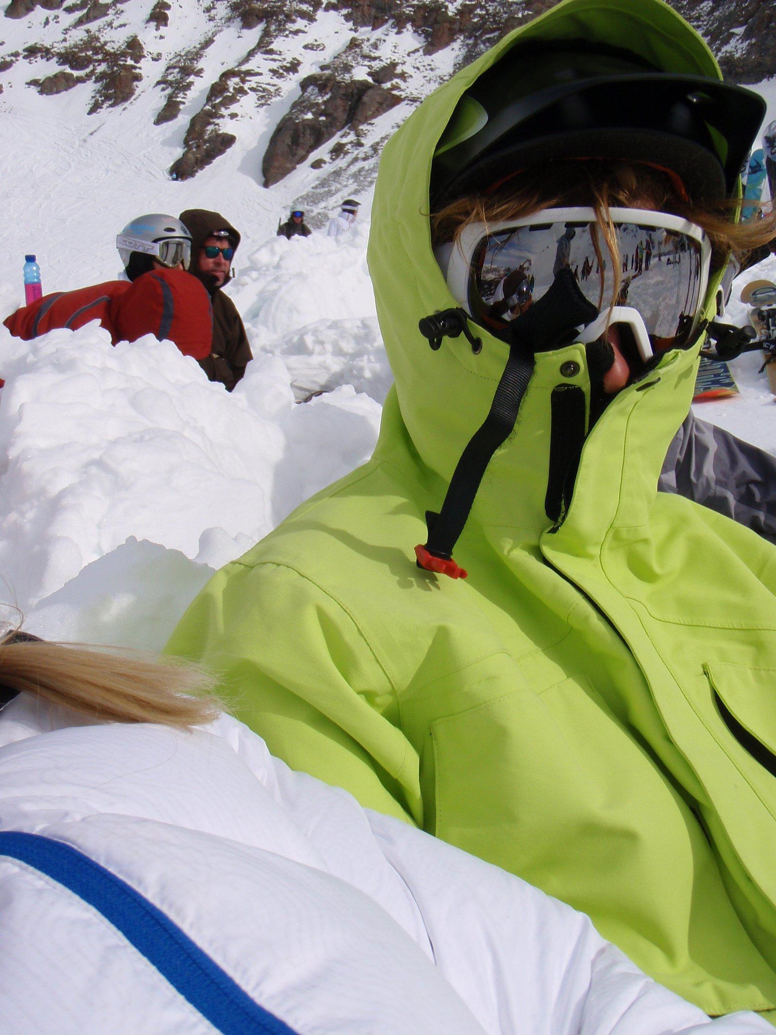 Ski mug shot
