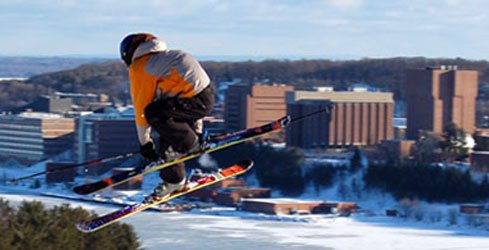 Skier at Mont Ripley