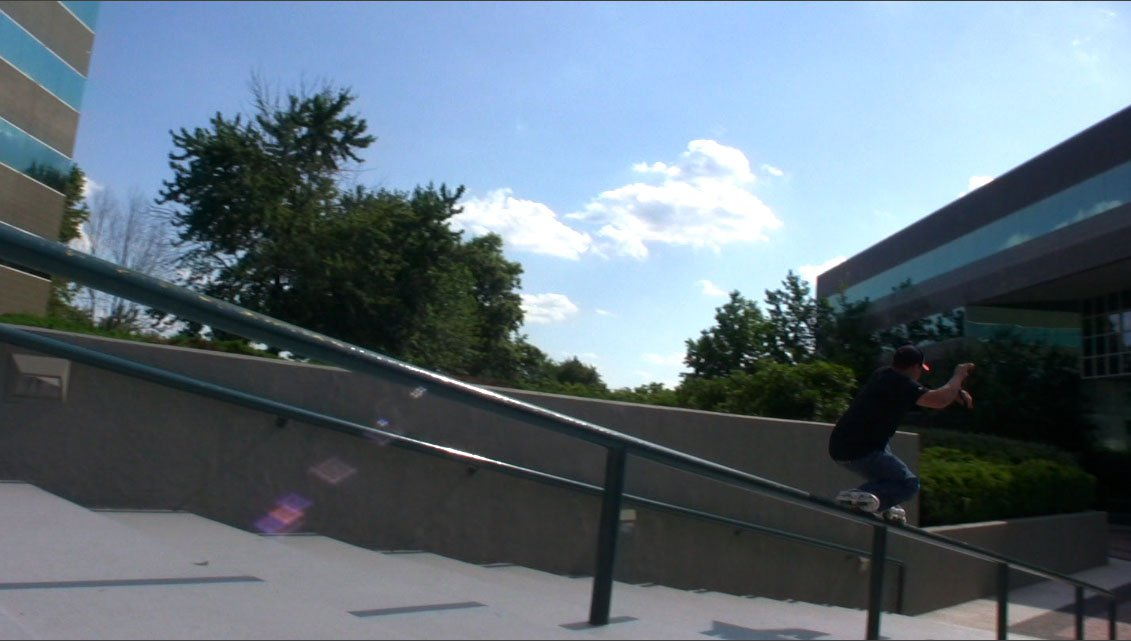 Sweatstance down Atrium rail, NJ