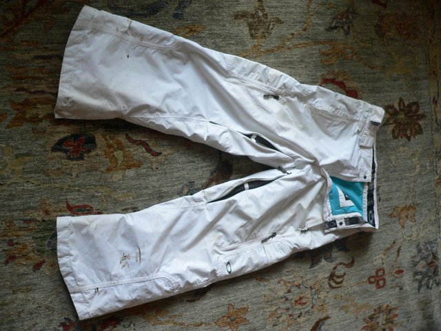 White snowpants
