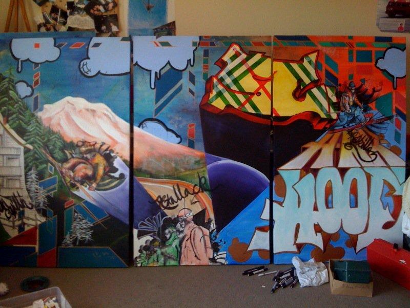 Sammy C painting