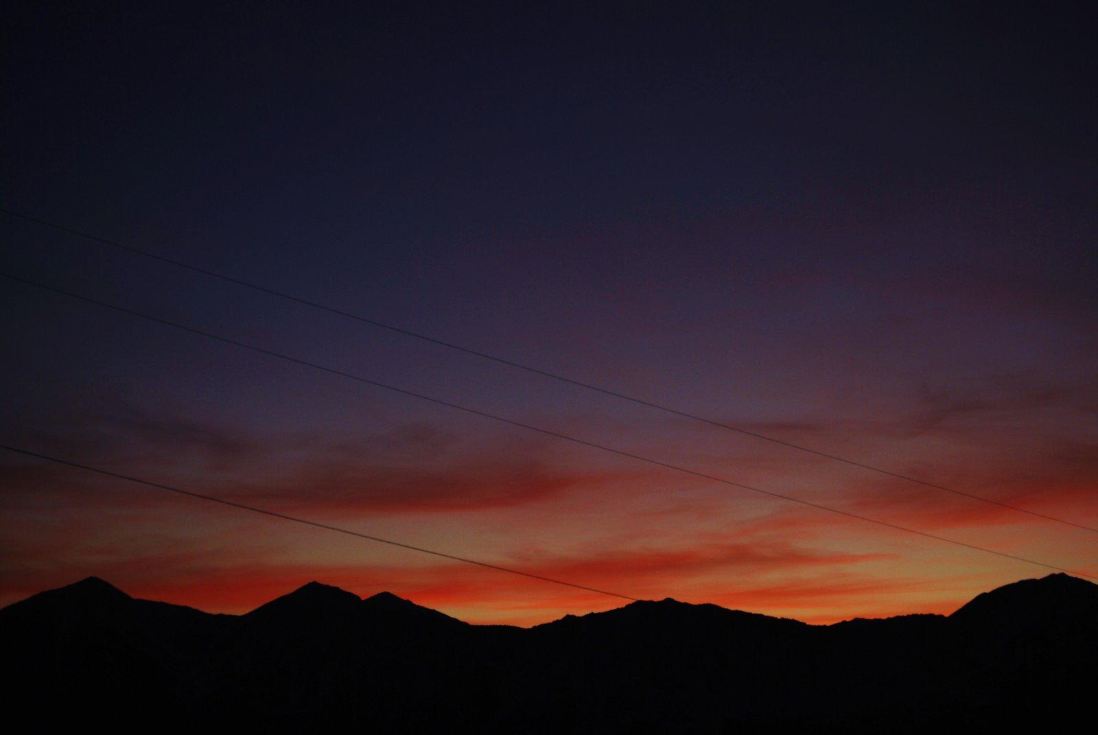 Sunset over the Sierra Nevada Mts.