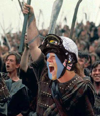 Tanner Hall is Braveheart