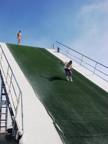 Killing it on a huge slide