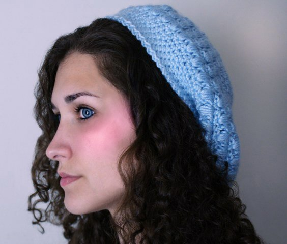 Blue Slouchy Hat - $13.50