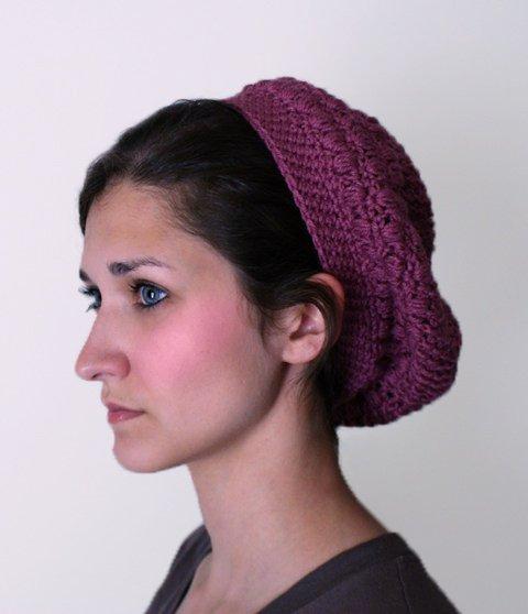 Maroon Slouchy Hat - $13.50