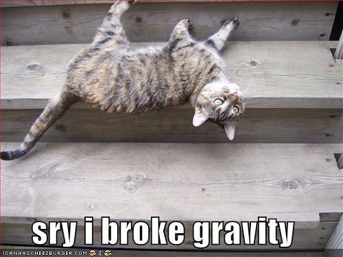 Broken gravity