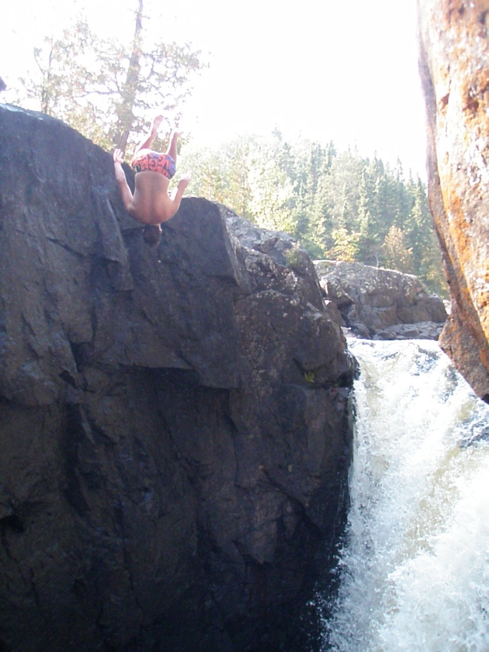 Another gainer into mackenzie falls