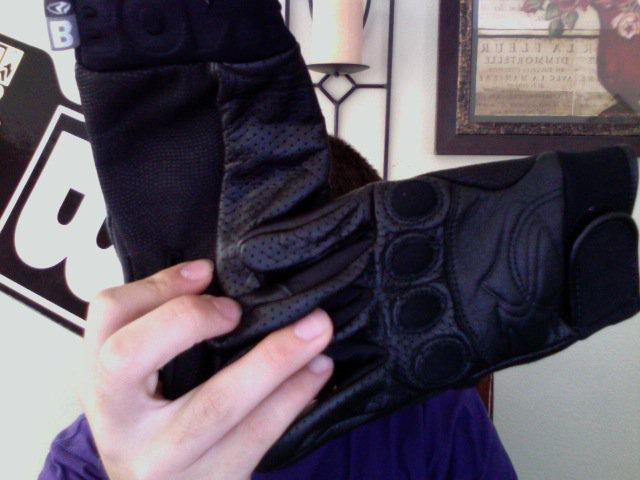 Bonfire gloves size m leather