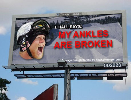 T Hall billboard