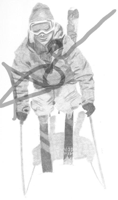 Ski drawing