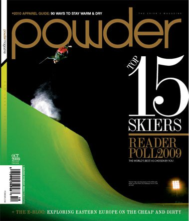 October 2009 Powder Magazine Cover