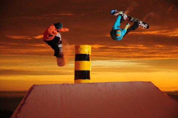 Sick pic in Chile, snowboard