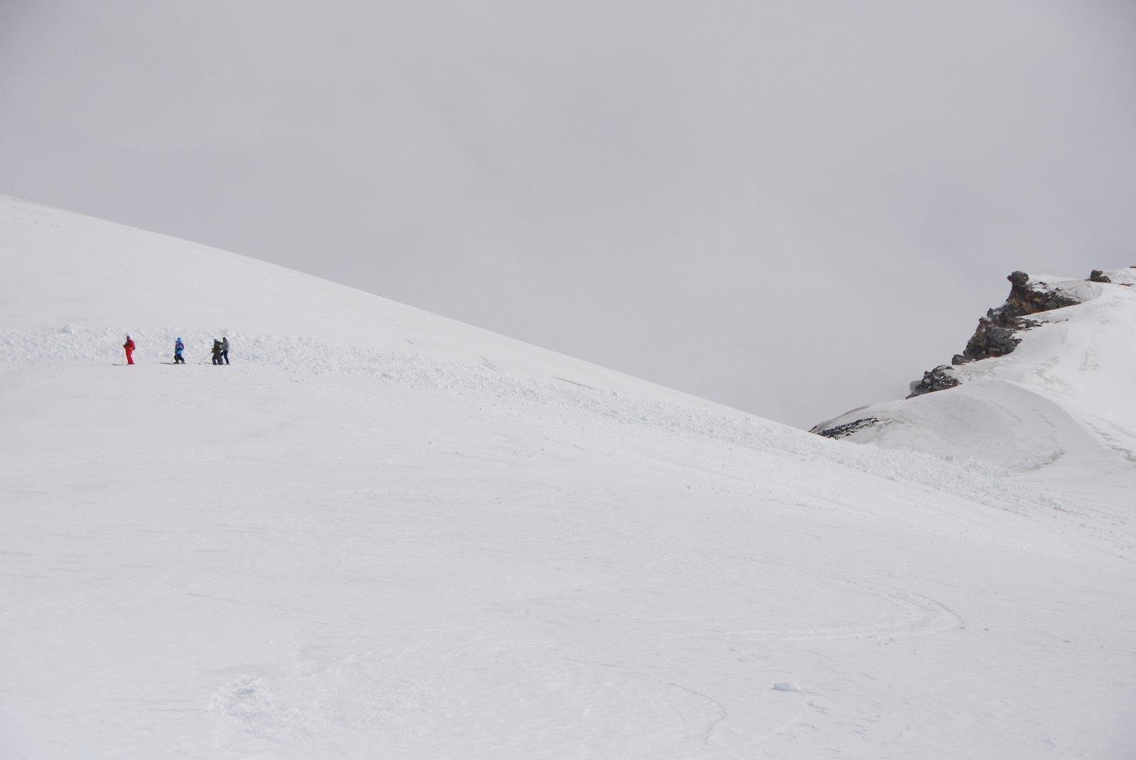 Tiny skiers