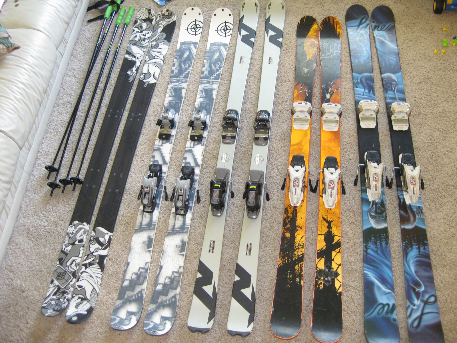 Skis for sale. but anthems are just feelers.
