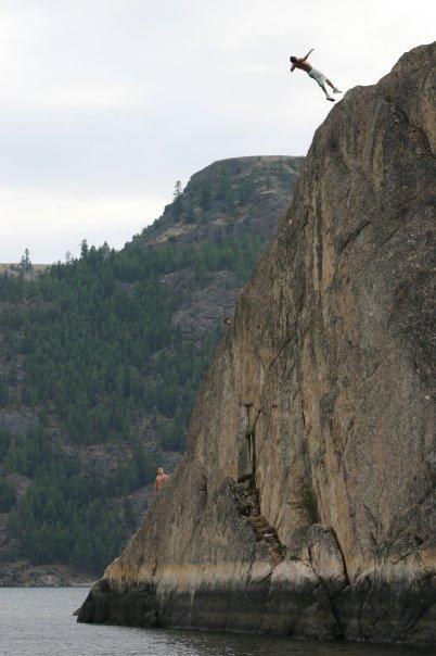 Backflip large cliff