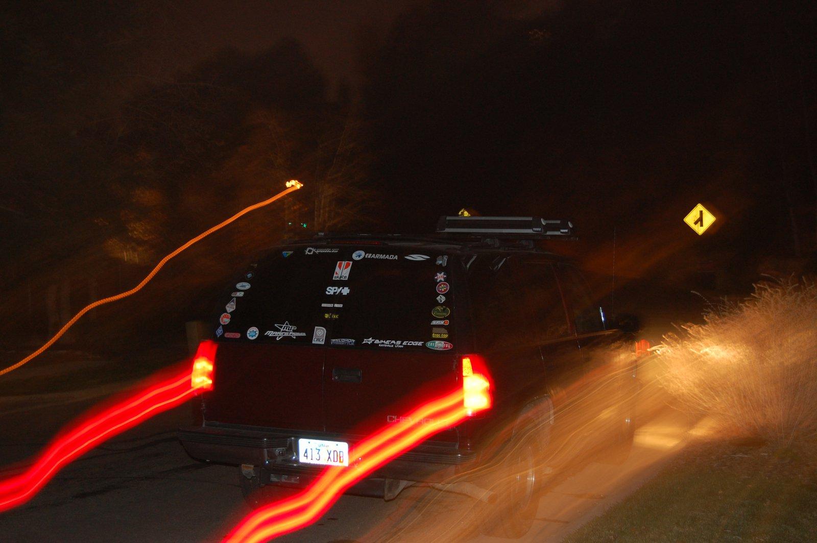 Sticker Job, Trailing Taillights