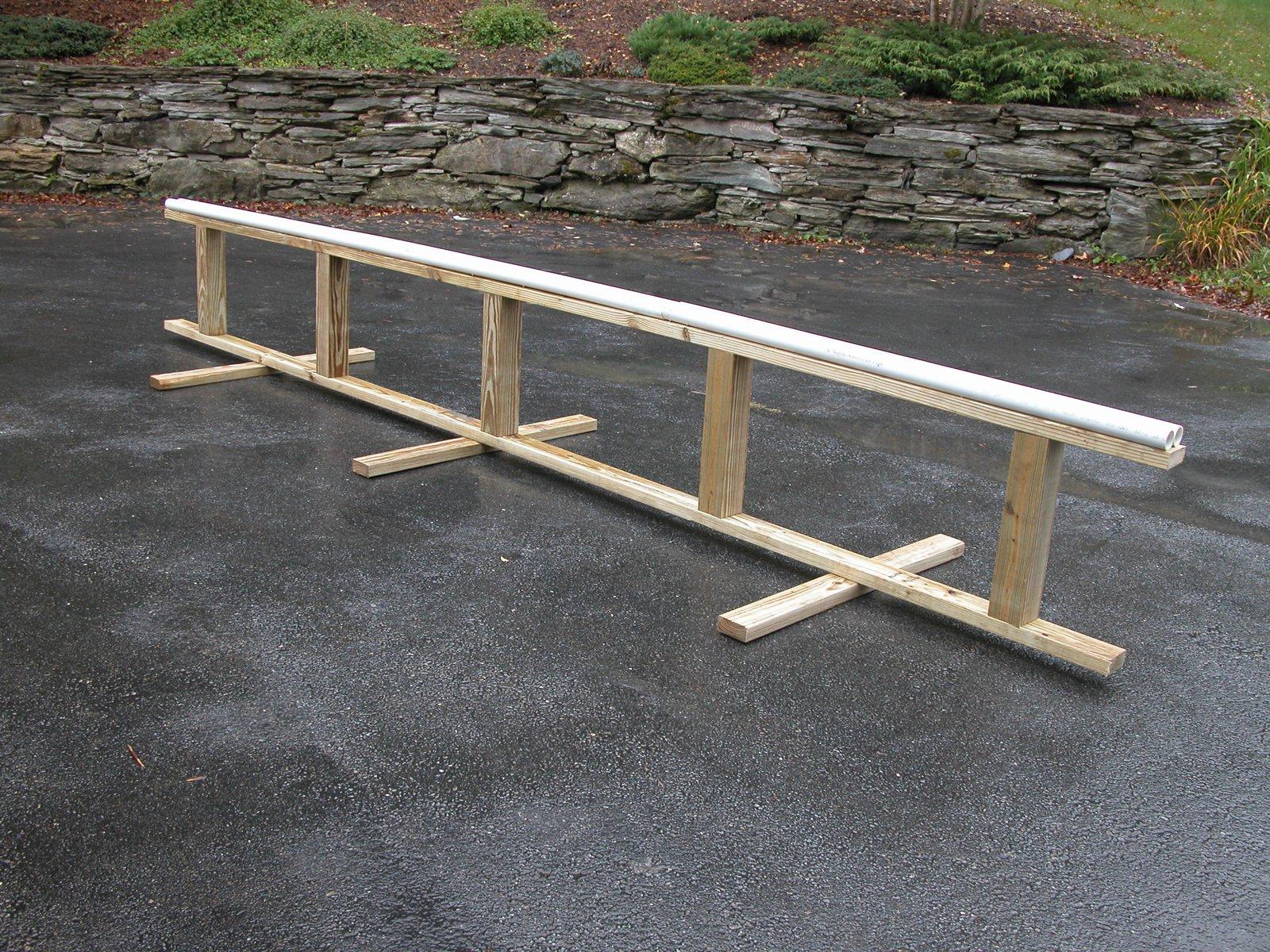 Pvc pipe rail