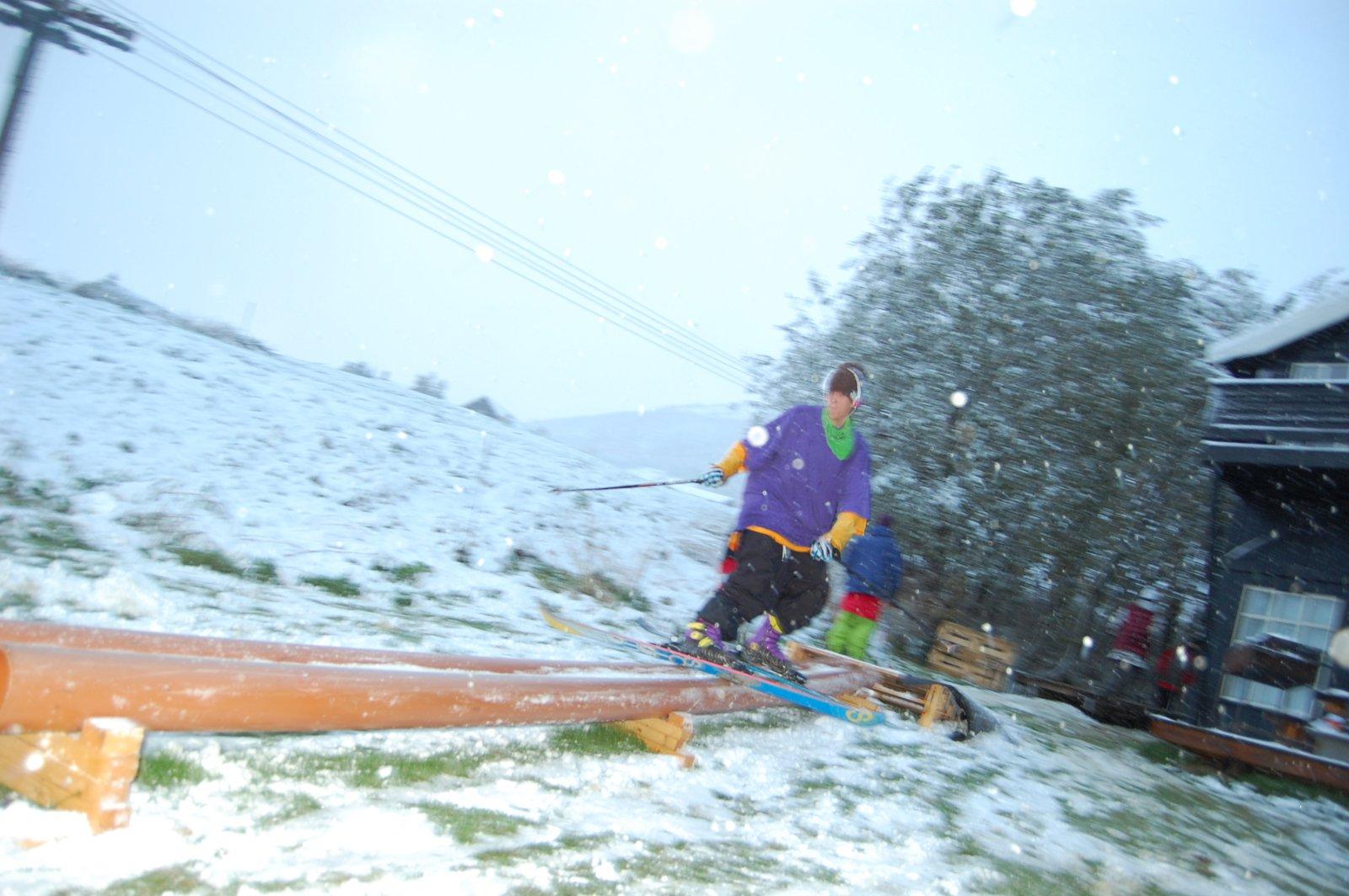First railjam on snow this season