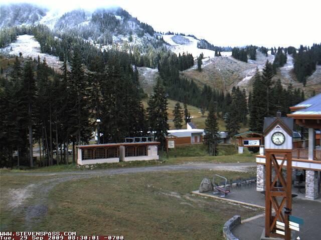First snow at Stevens Pass