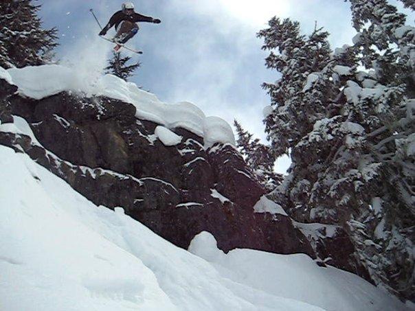 Big cliff n snow