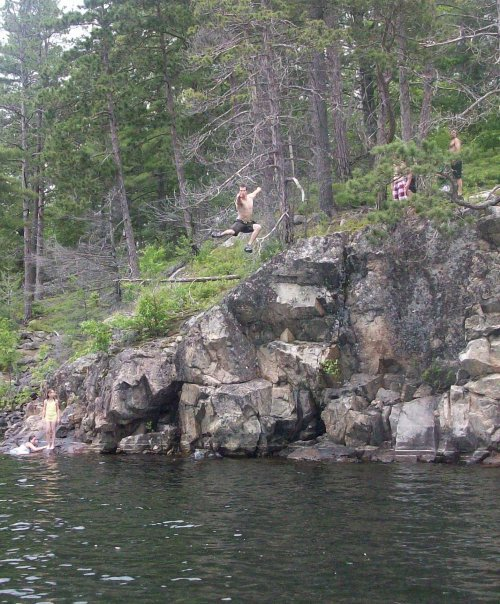Cliff jumping in northern ontario